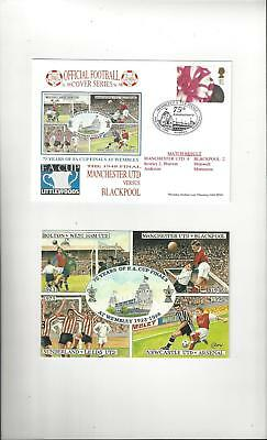 Manchester United v Blackpool FA Cup Football First Day Cover + Insert 1998