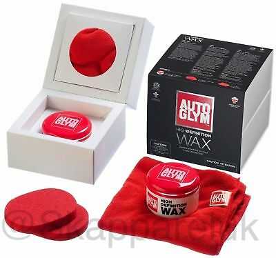 Autoglym High Definition Car Vehicle Wax Kit HD Waxing Polish Cleaning Sponge