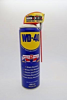 WD40 Multi Purpose Libricant Spray With Smart Straw 450ml Cleans & Protect Ru