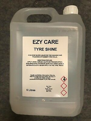 EZY CARE Car Supplies Tyre Dressing Long Lasting Silicone Based Tyre Shine 5L