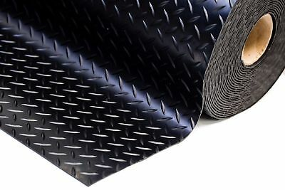 Checker - Plate Rubber Garage Flooring Matting 1.5M Wide X 3Mm Thick - A Grade