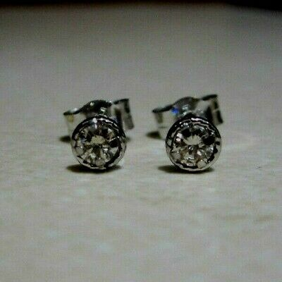 aae8f29bf New Halo 1/5ct Diamond 9ct White Gold Stud Earrings £110 or Best Offer