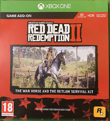 DLC Red Dead Redemption 2 War Horse and Outlaw Survival Kit DLC ONLY Xbox!