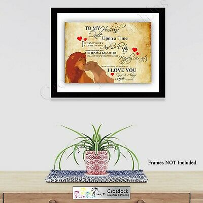Lion king valentines Love Typography Romance Photo Poster Print ONLY Wall Art