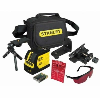 The Stanley Intelli SCL FatMax Cross Line Laser projects 1 horizontal and 1 vert