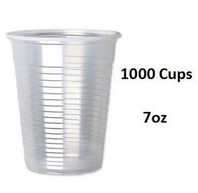 1000 X 7oz Plastic Water Cups Clear Plastic Cups  For Water Cooler Party, Office