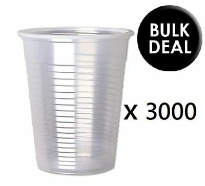 3000 X 7oz Clear Plastic Water Cups Strong Drinking Tumblers Glasses Party Cups