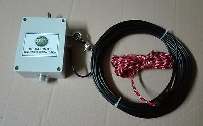ANTENNA LONG WIRE END-FED 16.2M CON BALUN HI POWER 9:1 3Kw (icom kenwood yaesu)