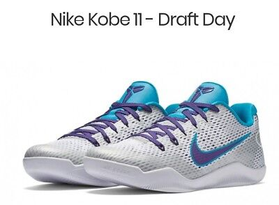 the latest d16e8 28bb6 Nike Kobe 11 XI Draft Day Size 8.5 Teal Court Purple Grey. Hornets. BRAND