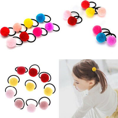 10pcs baby hair accessories cute hairball baby girls head wear rubber bands XJ
