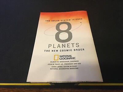 Vintage National Geographic Magazine December 2006 Map The Solar System 8 Planet