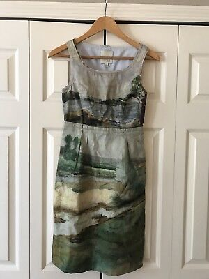 7d3f701cfe480 Anthropologie Odille Women's Artist in Rendering Painting Landscape Dress