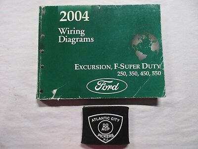 2004 ford excursion f-super duty 250 350 450 550 wiring diagrams service  manual