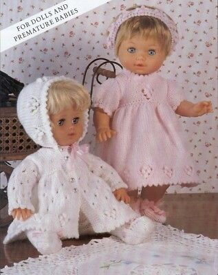 Baby Dolls Clothes Knitting Pattern ~copy~ Includes PREMMIE baby size