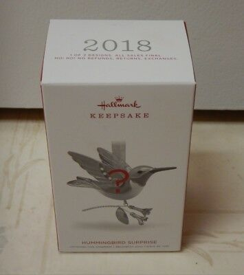 2018 Hallmark Hummingbird Surprise Ornament - New and UNOPENED