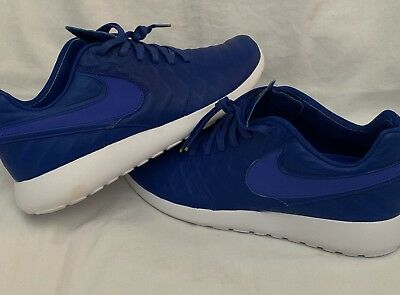 pretty nice 695a4 b53bc Mens Nike Air Roshe Run Tiempo VI QS Size 10.5 Blue Gold White  130 Shoes  New