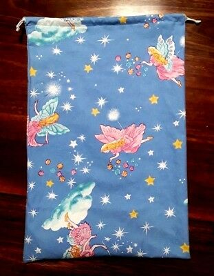 Pixie Bell Fairy WATERPROOF drawstring library/preschool/toy/Kindy bag 28 x 40cm