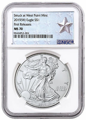 2019-(W) American Silver Eagle West Point NGC MS70 FR Silver Star SKU56672