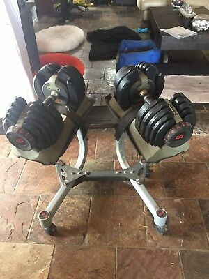 abc5e68a2f6 Bowflex Adjustable Dumbbells Set Home Gym Exercise Free Weights - With  Stand.