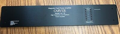 * NEW & IMPROVED * CARVER M-1.5 amp Faceplate, Black with Handles and Hardware