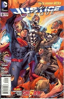 Justice League #9 Signed Jim Lee Dc New 52