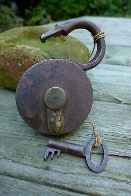 Antique Padlock with one key F.Sengpiel working order Made in Germany 29-01