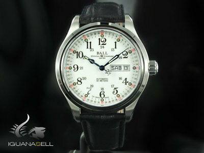 Ball Trainmaster 60 Seconds Watch - NM1058D-LL3FJ-WH - White - strap - 41 mm