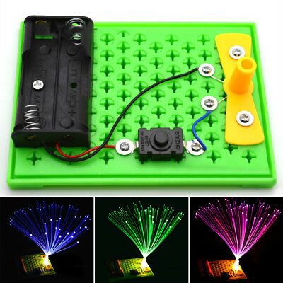 Colorful DIY Toy Fiber Optic Light Kids gift Science Experiment Kits Educational