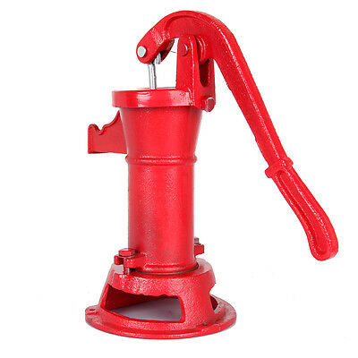 Cast Iron Well Pitcher Pump Heavy Duty Hand Water 25 ft Max Lift Shallow Yard CA