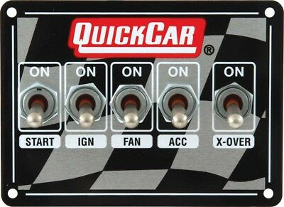 QUICKCAR RACING PRODUCTS 4-1/8 x 3 in Dash Mount Switch Panel P/N 50-1711