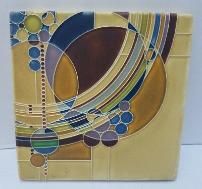 Frank Lloyd Wright MARCH BALLOONS Ceramic Trivet Wall Tile Motawi Tileworks MI 8