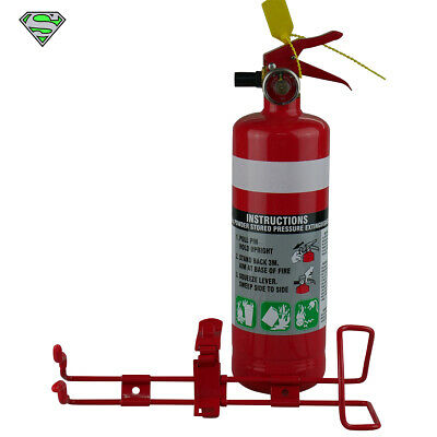 1kg Fire Extinguisher Abe Dry Powder With METAL BRACKET (Kitchen Car Boat 4WD)