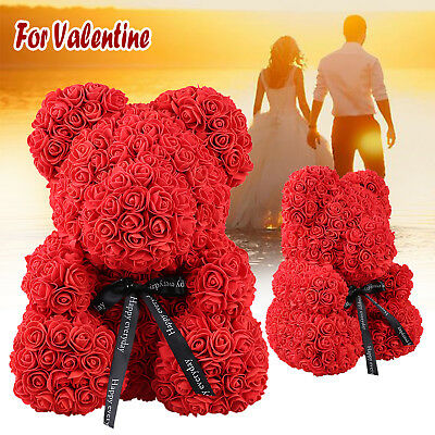 Bear Big Red Rose Flower Bear Doll Toys Creative Birthday Valentine's Gifts*38cm