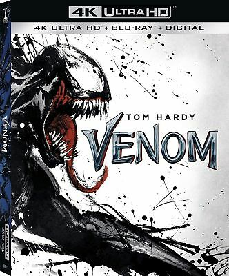 Venom Tom Hardy Marvel 4K Ultra Hd Uhd Blu-Ray Digital New Slipcover Fast Ship
