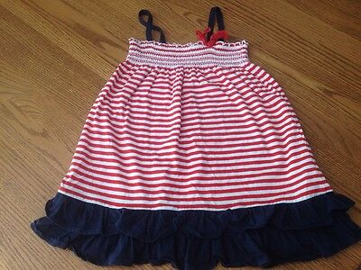 659ab38048a OshKosh B Gosh 4T Toddler Girl Red White Blue Striped Sleeveless Summer  Dress