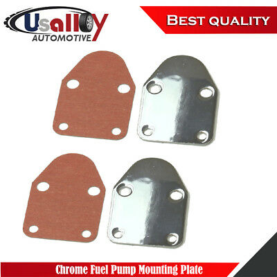 SBC Fuel Pump Mounting Plate W// Gasket For Chevy SB 283 305 327 350 383 400 C9V0