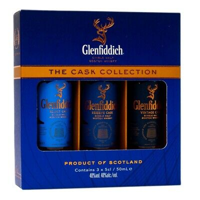 Glenfiddich Cask Collection 3 x 50ml 40% Vol.