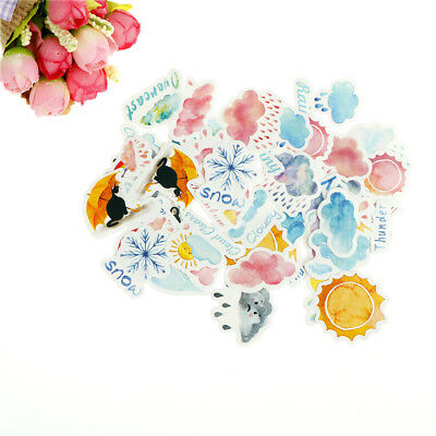 46pcs weather paper sticker decor diy ablums diary scrapbookings label stickers#