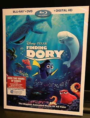 Finding Dory Disney Pixar Blu-Ray Dvd Digital Hd Slipcover New Sealed Fast Ship