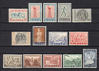 GREECE 1937/1938 HISTORICAL ISSUE MNH (Vl. 493-505+494A)