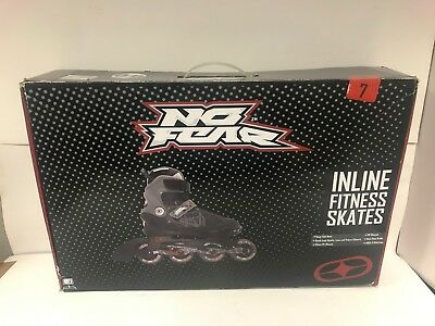 No Fear Inline Fitness Skates - Size 7 (Boxed - Immaculate) 182460/8