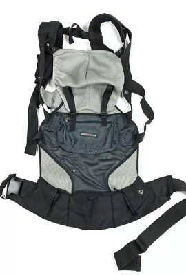 LILLEbaby Baby Carrier Air Flow Six in One Black Gray Mesh EUC