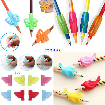 3/4/5Pcs Pen Grip Silicone Baby Pencil Holder Learn Writing Tools Writing Pen