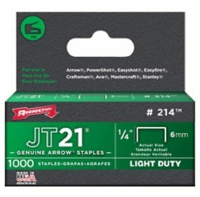 Arrow JT21 T27 6mm Staples 1000pc High Quality Heavy Duty Staple Gun Tackers NEW