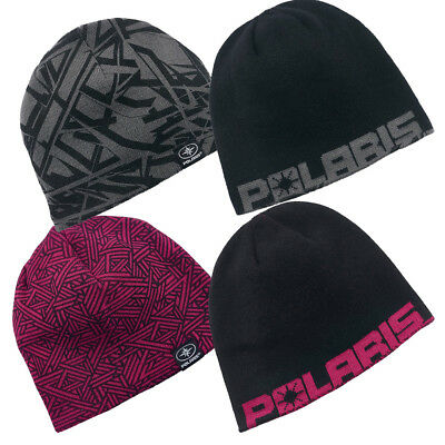 Genuine OEM Polaris Youth Reversible Printer Winter Warm Beanie Hat