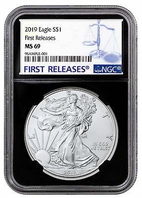 2019 1 oz American Silver Eagle $1 NGC MS69 FR Black Core SKU55761