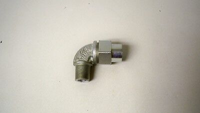 """*NEW* Eaton UNL105 Crouse Hinds 1/2"""" Male to Female 90° Conduit Union Elbow"""