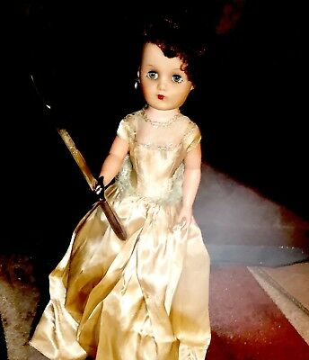 "Active Haunted Vintage 20"" Tall Patricia the Scorned Evil 1950's Prom Date Doll"