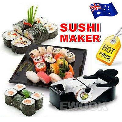 Sushi Maker Easy Roll Roller Machine Perfect Magic Kitchen Gadgets Delicious AU