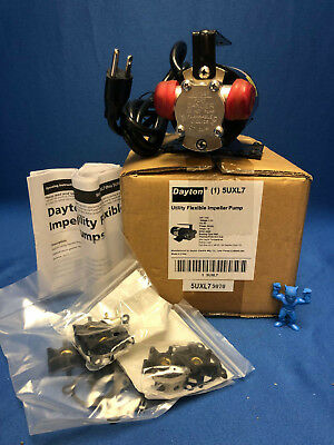 Dayton 5UXL7 Utility Flexible Impeller Pump 1/10 HP, 115V, 1 Phase, 60Hz